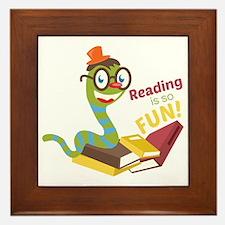 Reading is so fun Framed Tile