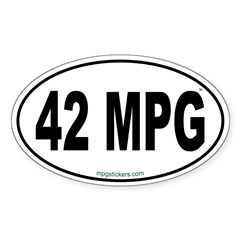 42 MPG Euro Decal
