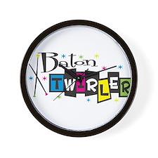 Retro Baton Twirler Wall Clock