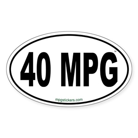 40 MPG Euro Sticker
