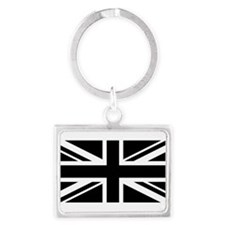 Black and White UK Flag Keychains