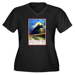 NY to Chicago Women's Plus Size V-Neck Dark T-Shir