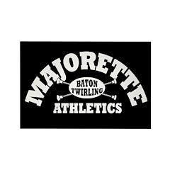 Majorette Athletics Rectangle Magnet (100 pack)