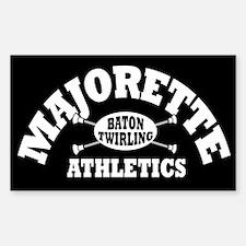 Majorette Athletics Rectangle Decal