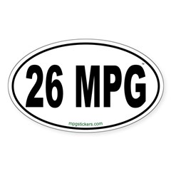 26 MPG Euro Decal