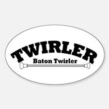 TWIRLER Oval Decal