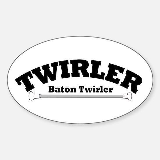 TWIRLER Oval Decal