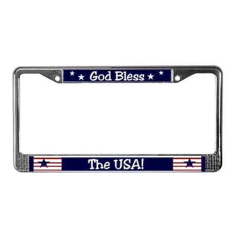 God Bless the USA License Plate Frame