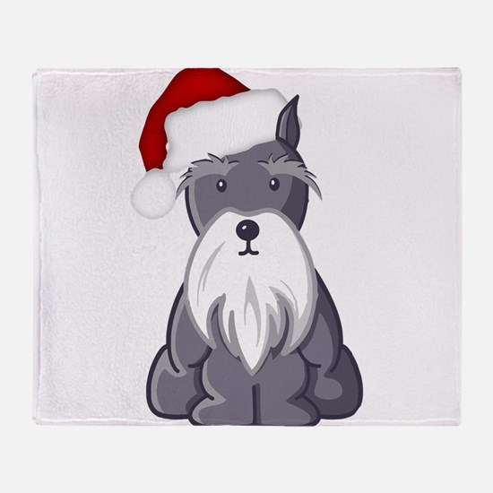 Santa Schnauzer Throw Blanket