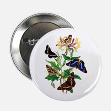 "BUTTERFLIES AND HONEYSUCKLE 2.25"" Button"