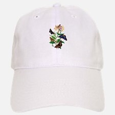 BUTTERFLIES AND HONEYSUCKLE Baseball Baseball Cap