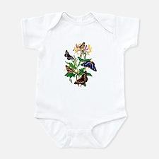 BUTTERFLIES AND HONEYSUCKLE Infant Bodysuit