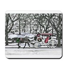 Horse Drawn Carriage in NYC Mousepad