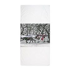 Horse Drawn Carriage in NYC Beach Towel