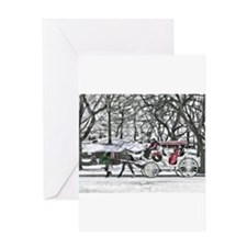 Horse Drawn Carriage in NYC Greeting Cards