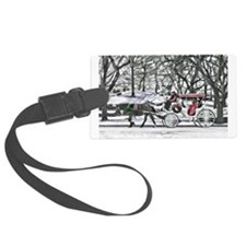 Horse Drawn Carriage in NYC Luggage Tag