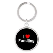 Fondling Round Keychain