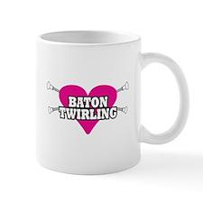 I Heart Baton Twirling Mug
