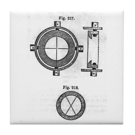 Crosshair Schematic Tile Coaster