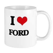 I Love Ford Mugs