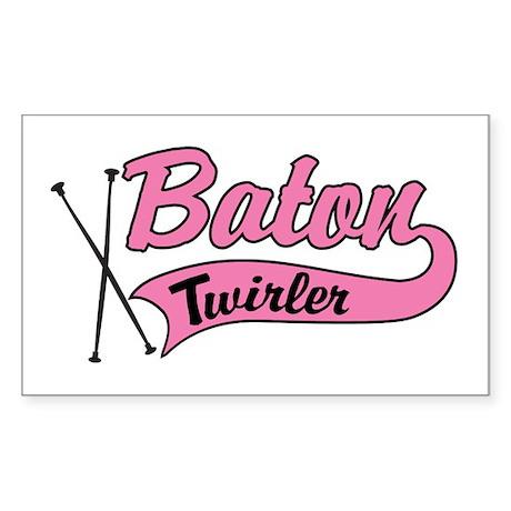 Baton Twirler Rectangle Sticker