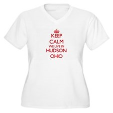 Keep calm we live in Hudson Ohio Plus Size T-Shirt