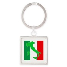 italy flag 06 Square Keychain