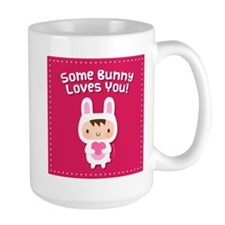 Cute Bunny Loves You Confession Mugs