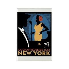 NY Jazz Rectangle Magnet (100 pack)