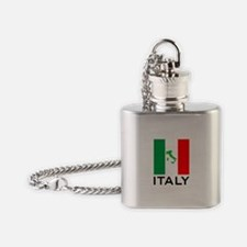 italy flag 00 Flask Necklace