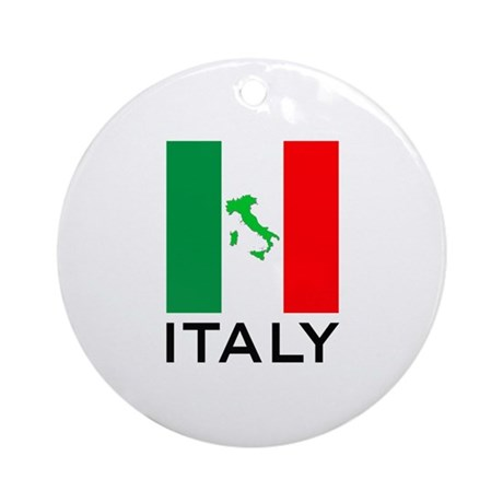 Vatican Christmas Ornaments Part - 27: Italy Flag 00 Ornament (Round)