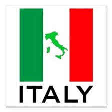 "italy flag 00 Square Car Magnet 3"" x 3"""