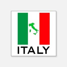 "italy flag 00 Square Sticker 3"" x 3"""