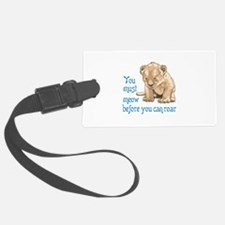 MEOW BEFORE ROAR Luggage Tag