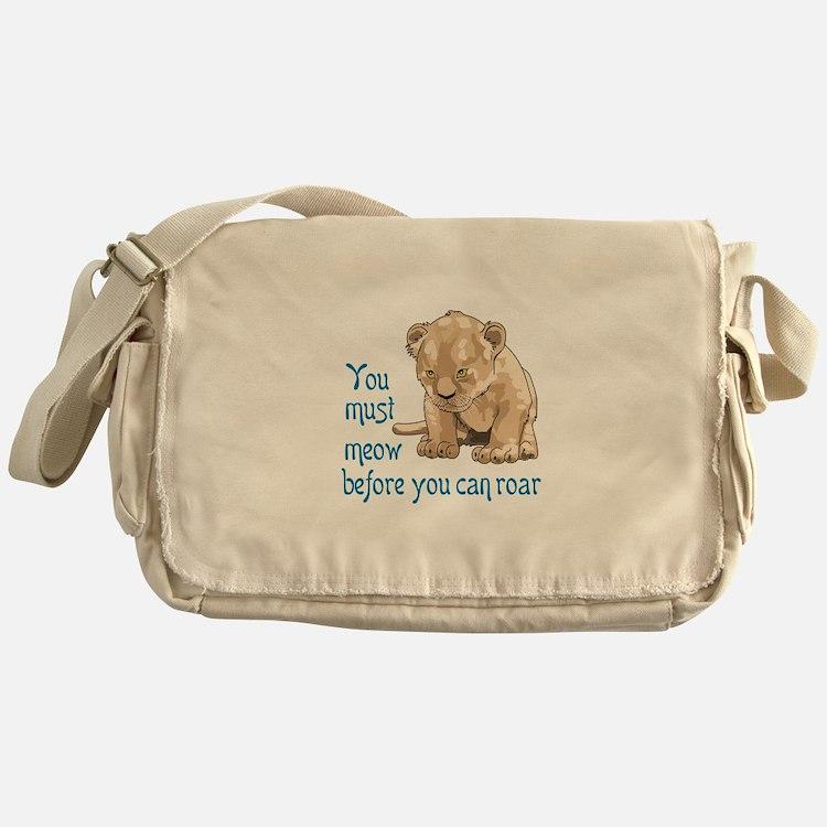 MEOW BEFORE ROAR Messenger Bag