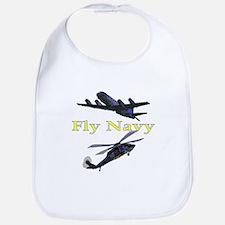 Fly Navy Bib