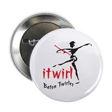 "itwirl Baton Twirler 2.25"" Button (10 pack)"