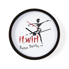 itwirl Baton Twirler Wall Clock