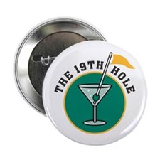 "The 19th Hole Martini 2.25"" Button (10 pack)"
