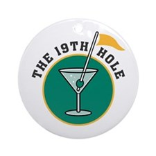 The 19th Hole Martini Ornament (Round)