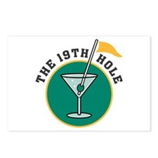 The 19th Hole Martini Postcards (Package of 8)