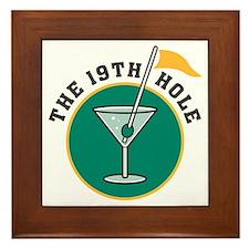 The 19th Hole Martini Framed Tile