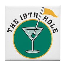 The 19th Hole Martini Tile Coaster