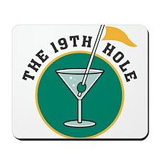 The 19th Hole Martini Mousepad