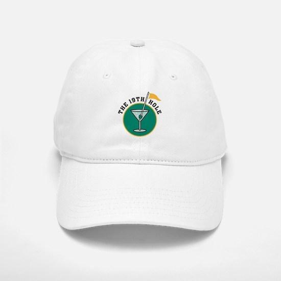 The 19th Hole Martini Baseball Baseball Cap