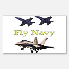 Fly Navy F-18's Rectangle Decal