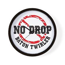 No Drop Baton Twirler Wall Clock