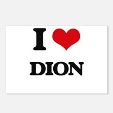 I Love Dion Postcards (Package of 8)