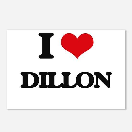 I Love Dillon Postcards (Package of 8)
