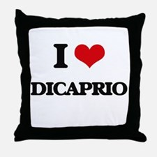 I Love Dicaprio Throw Pillow